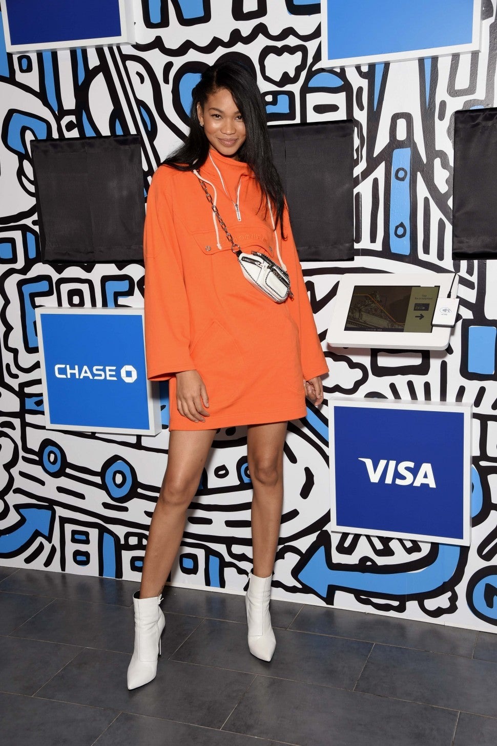 Chanel Iman with visa