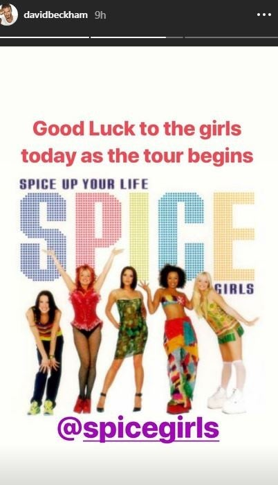 David Beckham Spice Girls Post