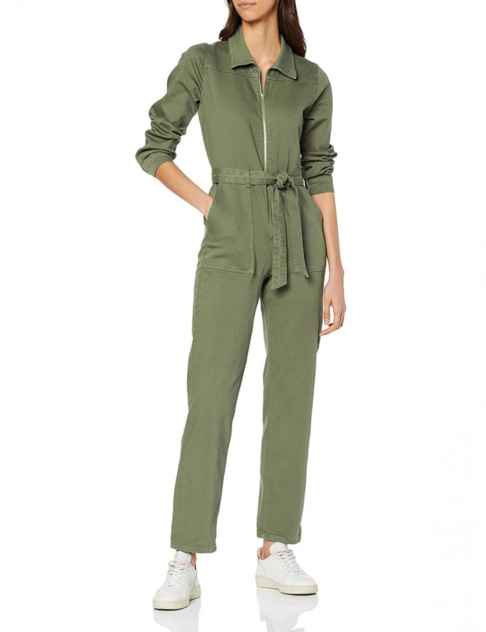 Find Amazon brand green utility jumpsuit