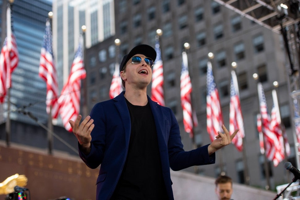 Gavin DeGraw performs over MDW
