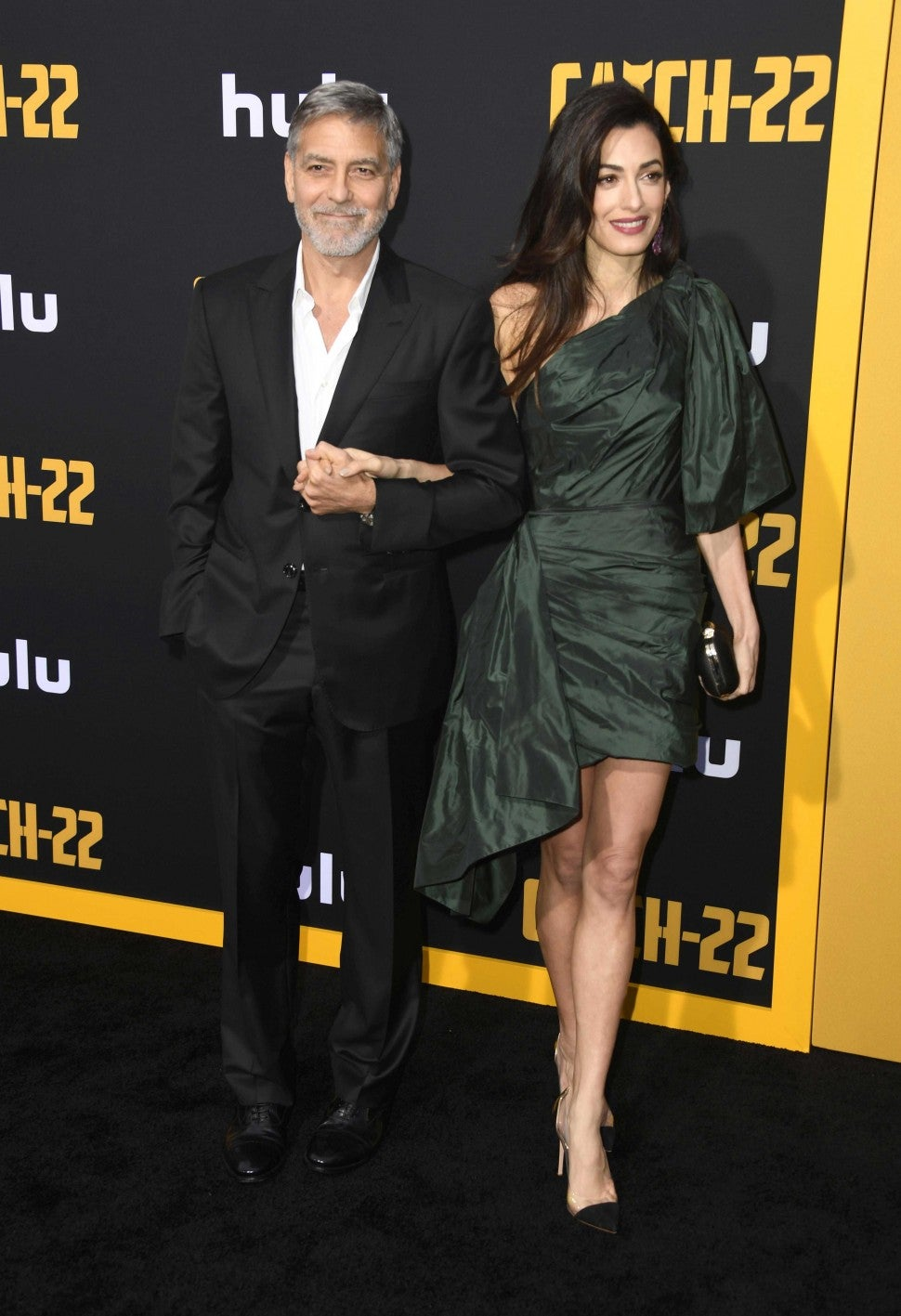 George Clooney and Amal Clooney at the premiere of 'Catch-22' in Hollywood on May 7.