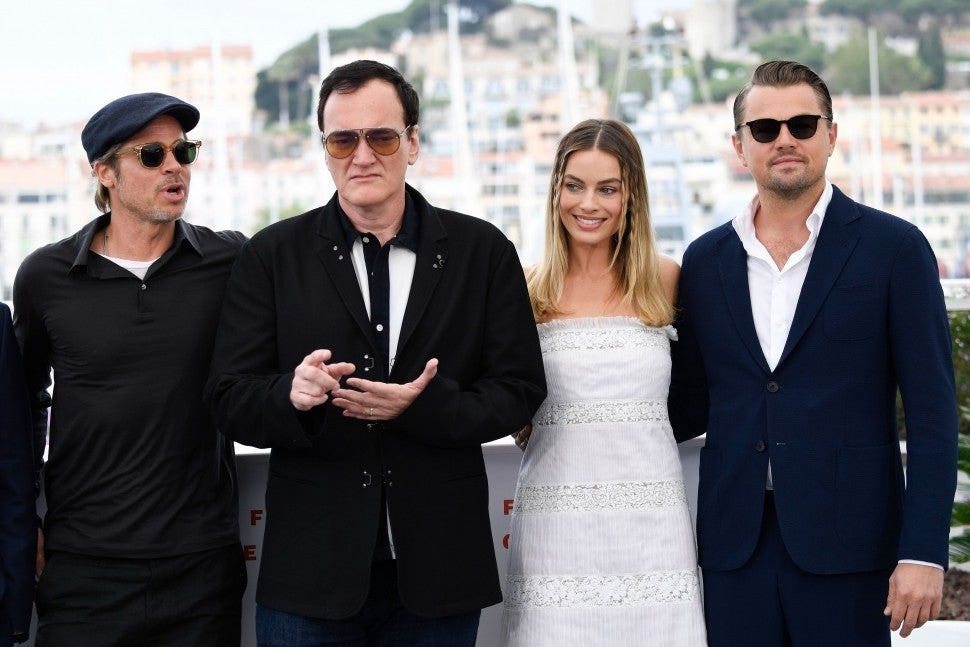"Brad Pitt, Director Quentin Tarantino, Margot Robbie and Leonardo DiCaprio attend the photocall for ""Once Upon A Time In Hollywood"" during the 72nd annual Cannes Film Festival on May 22, 2019 in Cannes, France"