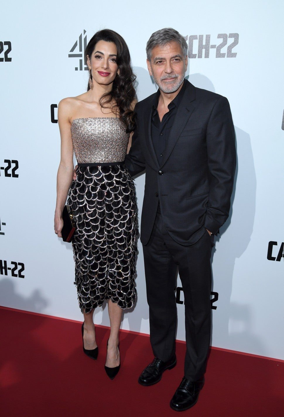 George Amal Clooney Catch 22 London Premiere