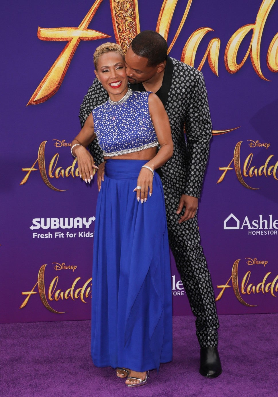 Jada Pinkett Smith and Will Smith at Aladdin premiere in hollywood