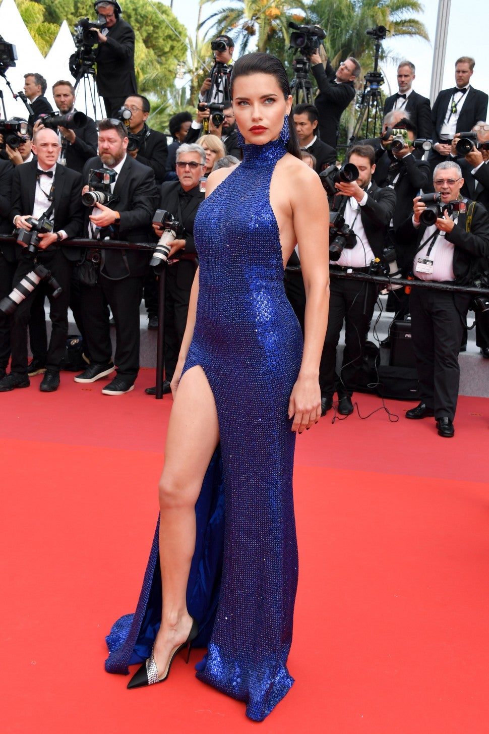 Adriana Lima at the Oh Mercy! (Roubaix, une Lumiere) screening during cannes