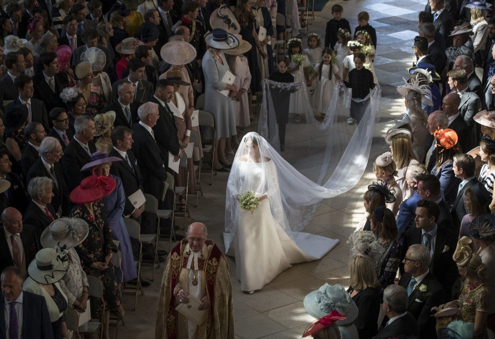 Meghan Markle Walking Down the Aisle