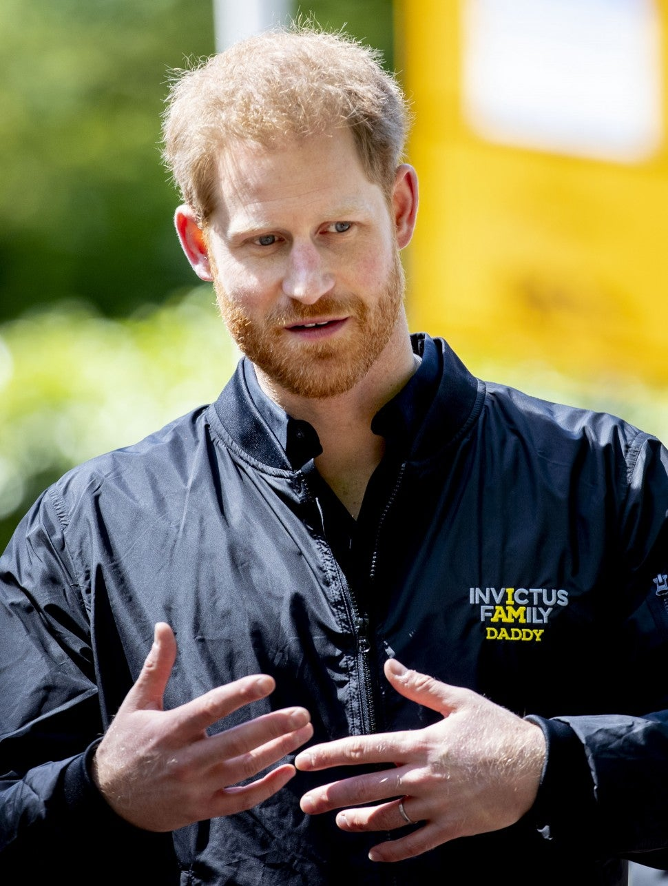 Prince Harry, Duke of Sussex during the launch of the Invictus Games on May 9, 2019 in The Hague, Netherlands.