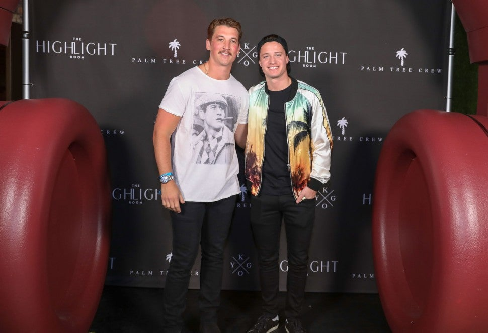 Miles Teller and Kygo at Highlight room