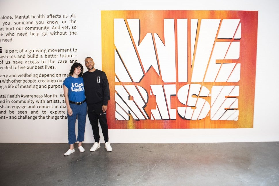 Rumer WIllis and Kendrick Sampson at we rise