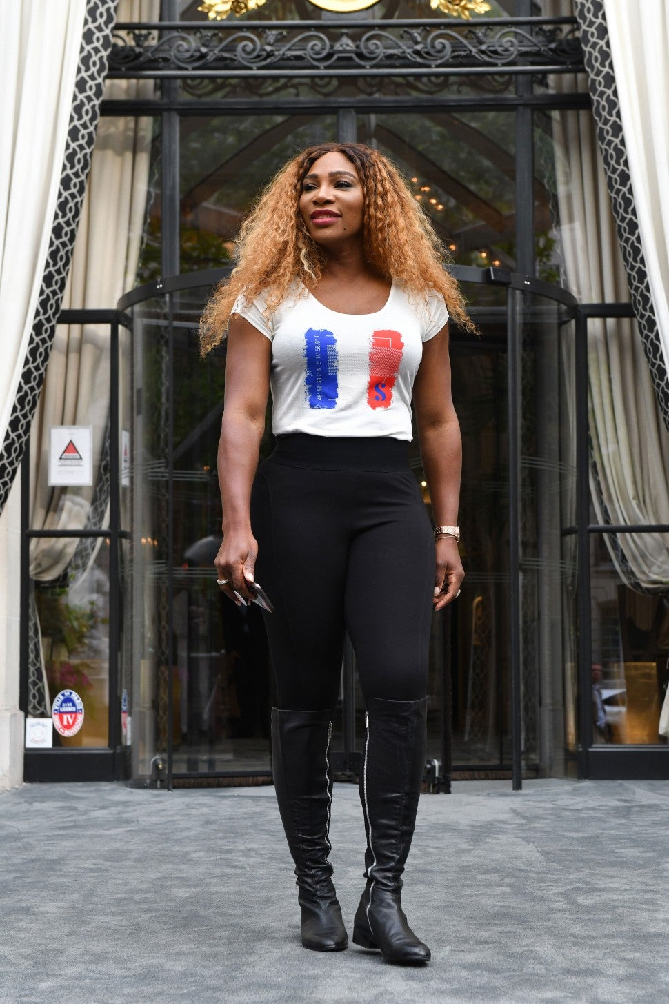 Serena Williams at The Peninsula Paris