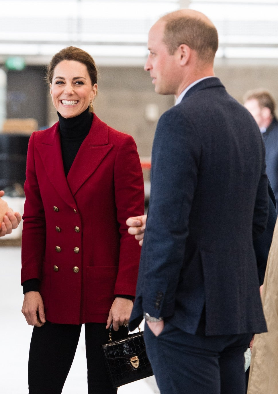 Prince Williamand Kate Middleton visit Caernarfon Coastguard Search and Rescue Helicopter Base during a visit to North Wales on May 08, 2019 in Various Cities, United Kingdom