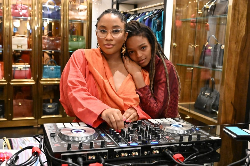Zuri and Selah Marley at the eBay x What Goes Around Comes Around partnership launch party