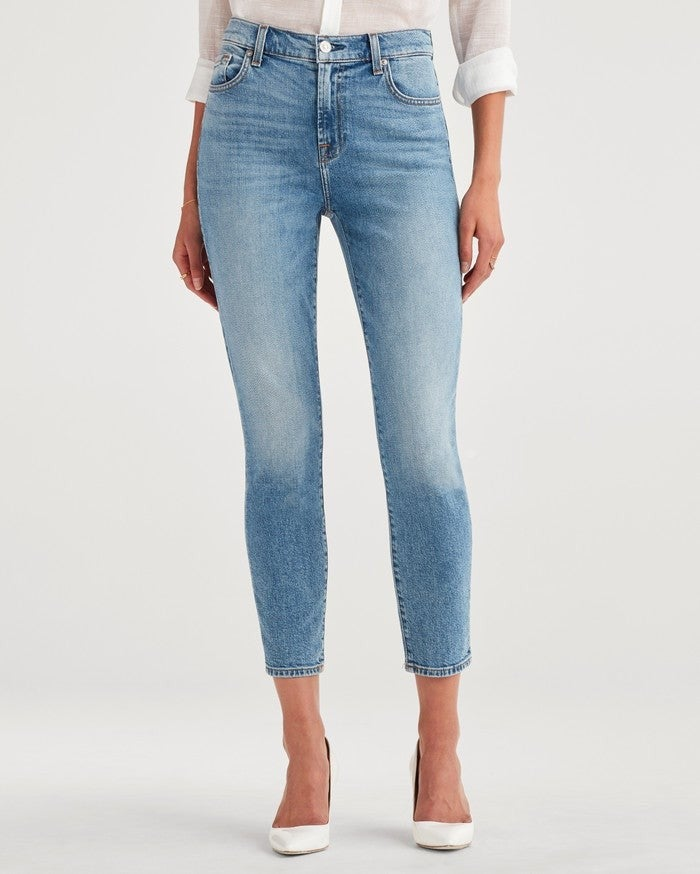 7 For All Mankind high waist slim jean