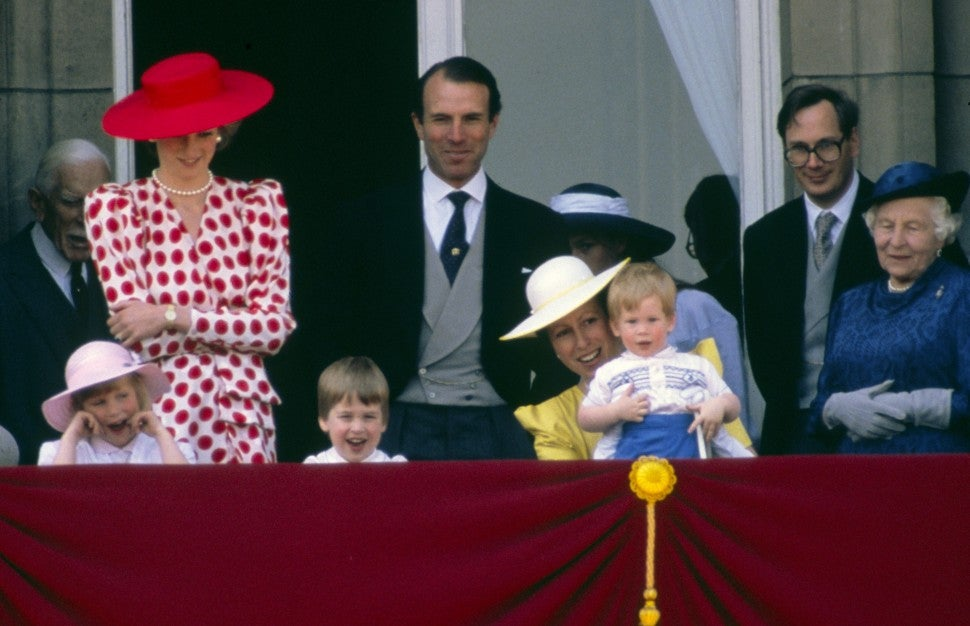 Prince Harry Princess Diana trooping the Colour 1986