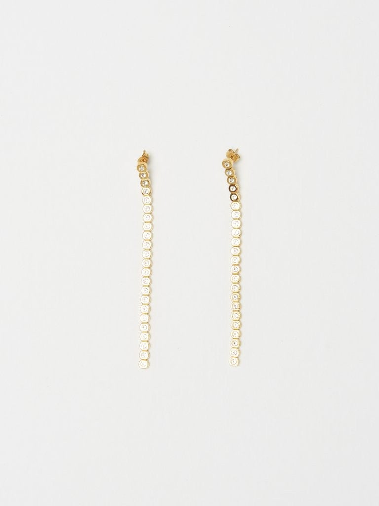 Bagatiba mika diamond line earrings