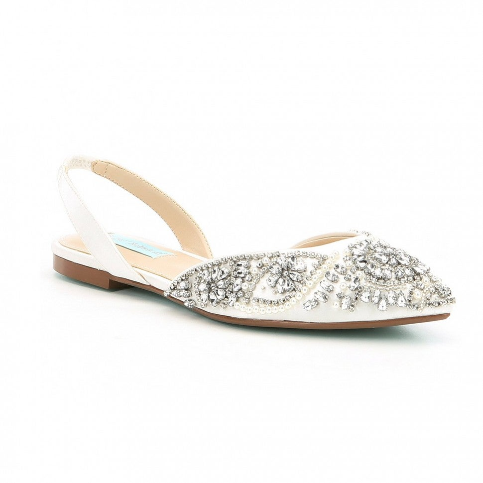 Blue by Betsey Johnson rhinestone flats