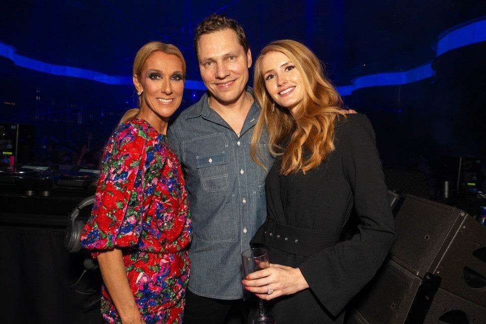 Celine Dion and Tiesto at OMNIA