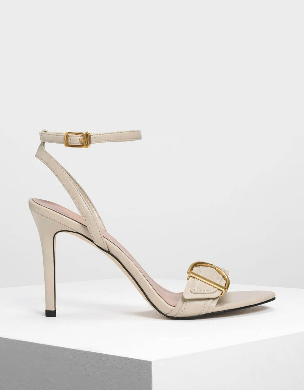 Charles & Keith buckle ankle strap heels