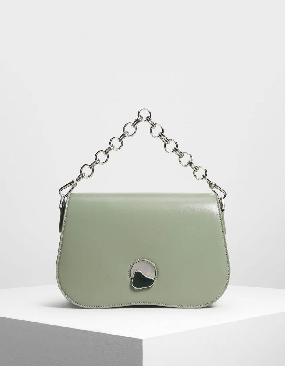 Charles & Keith curved edge bag