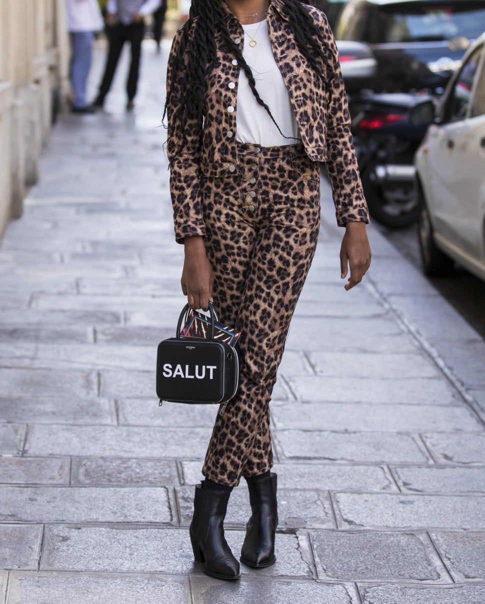 leopard print outfit street style