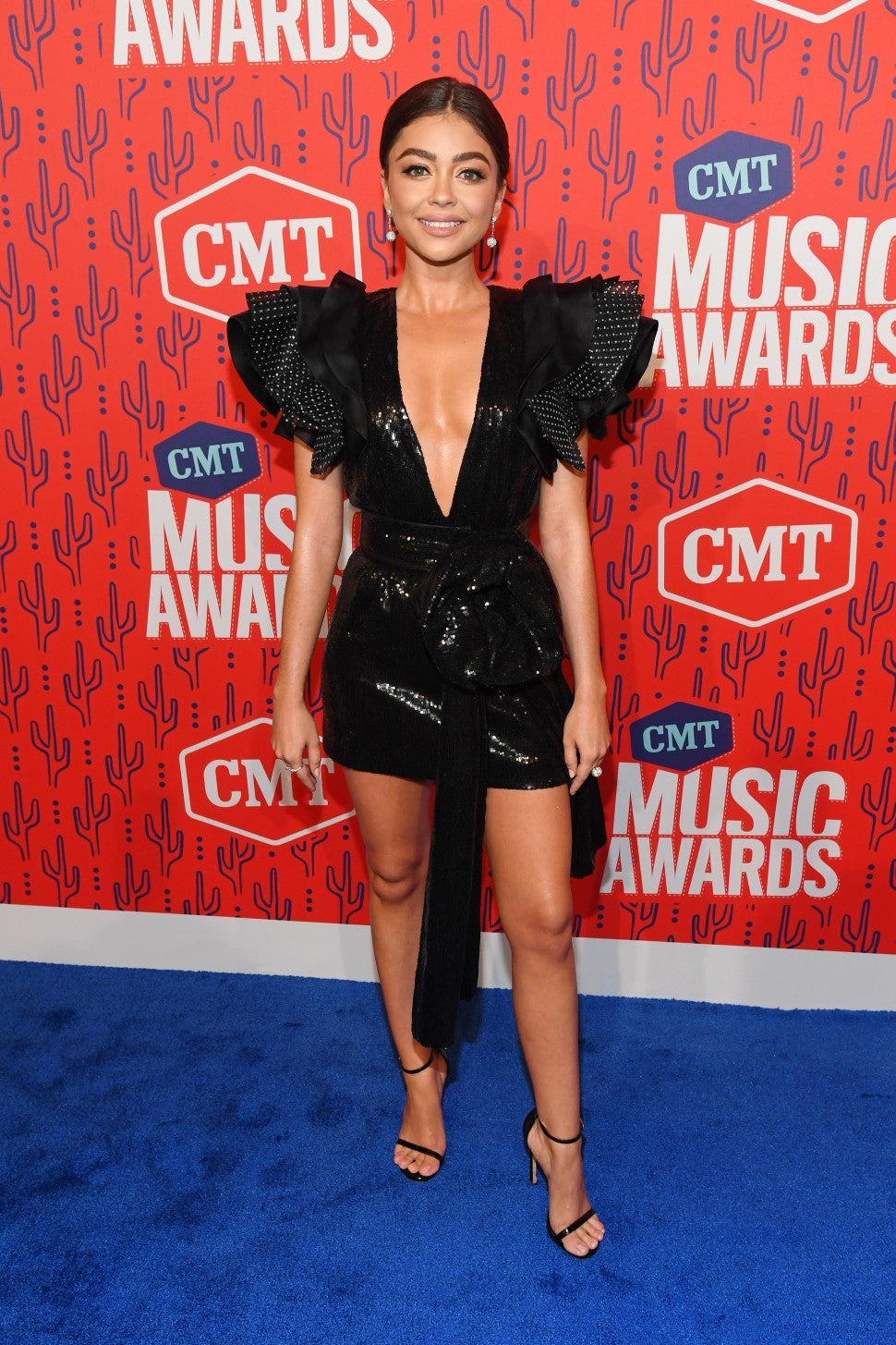 Sarah Hyland at 2019 cmt awards