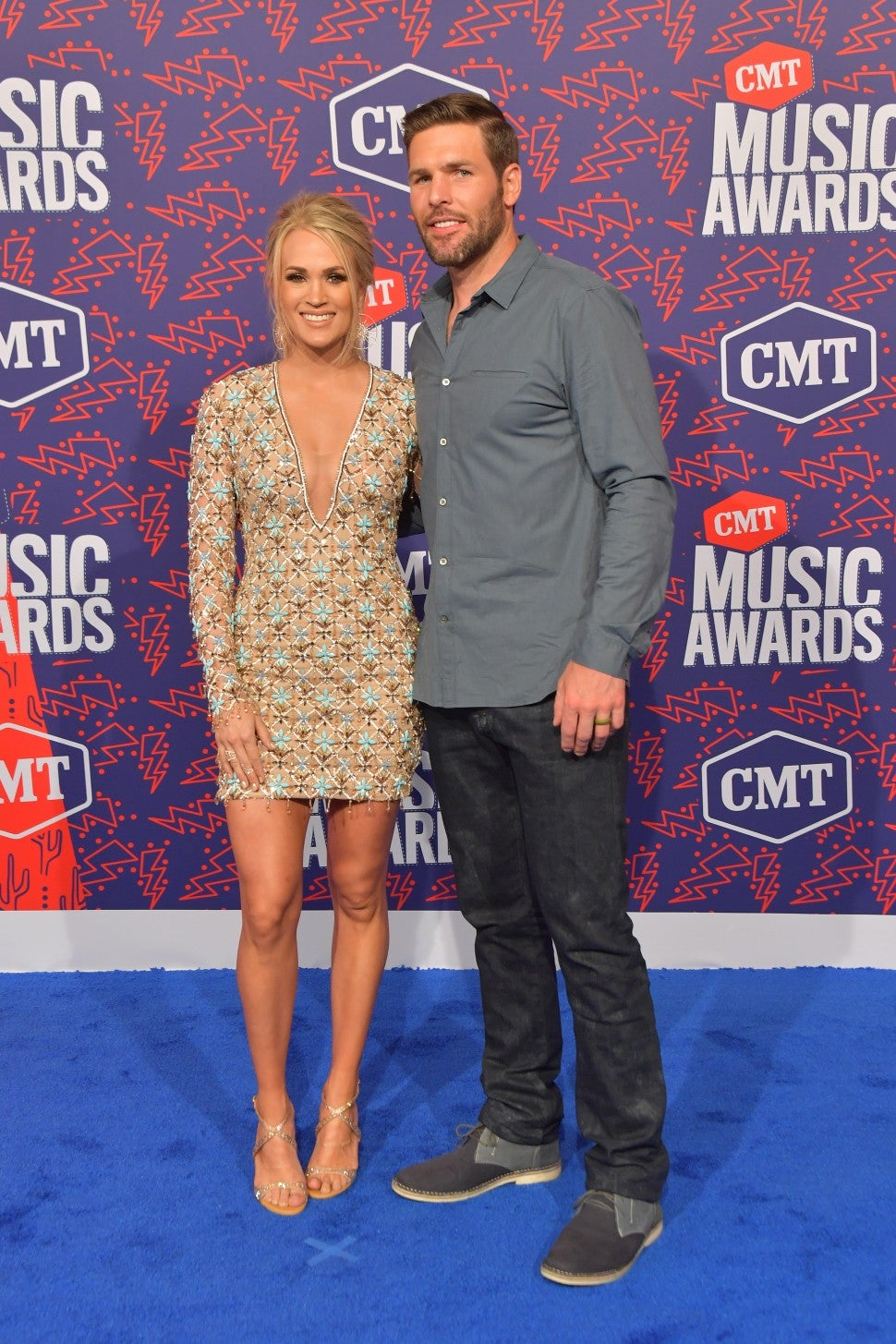 Carrie Underwood and Mike Fisher 2019 CMT Awards