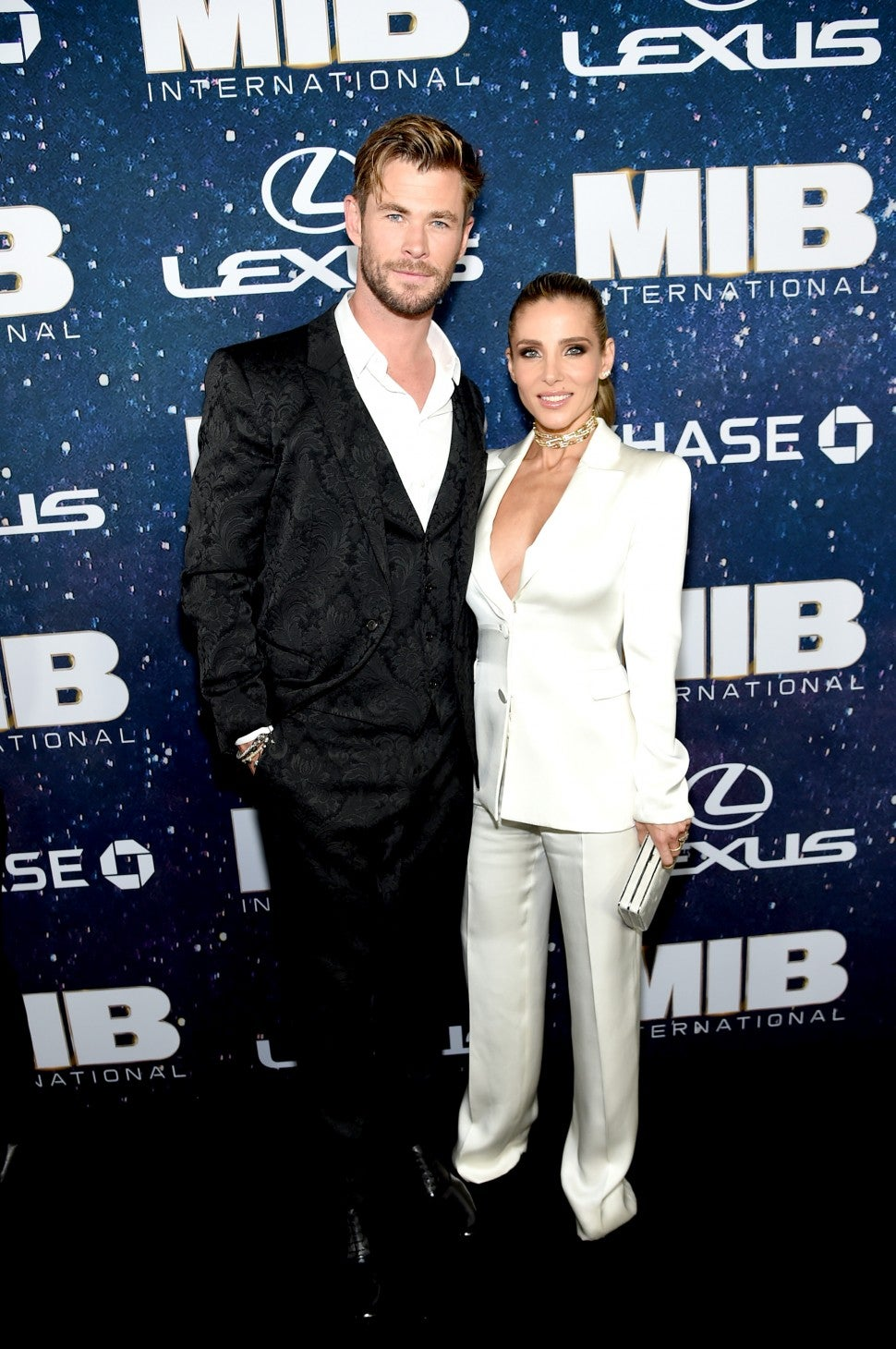 Chris Hemsworth and Elsa Pataky Men In Black International NY Premiere