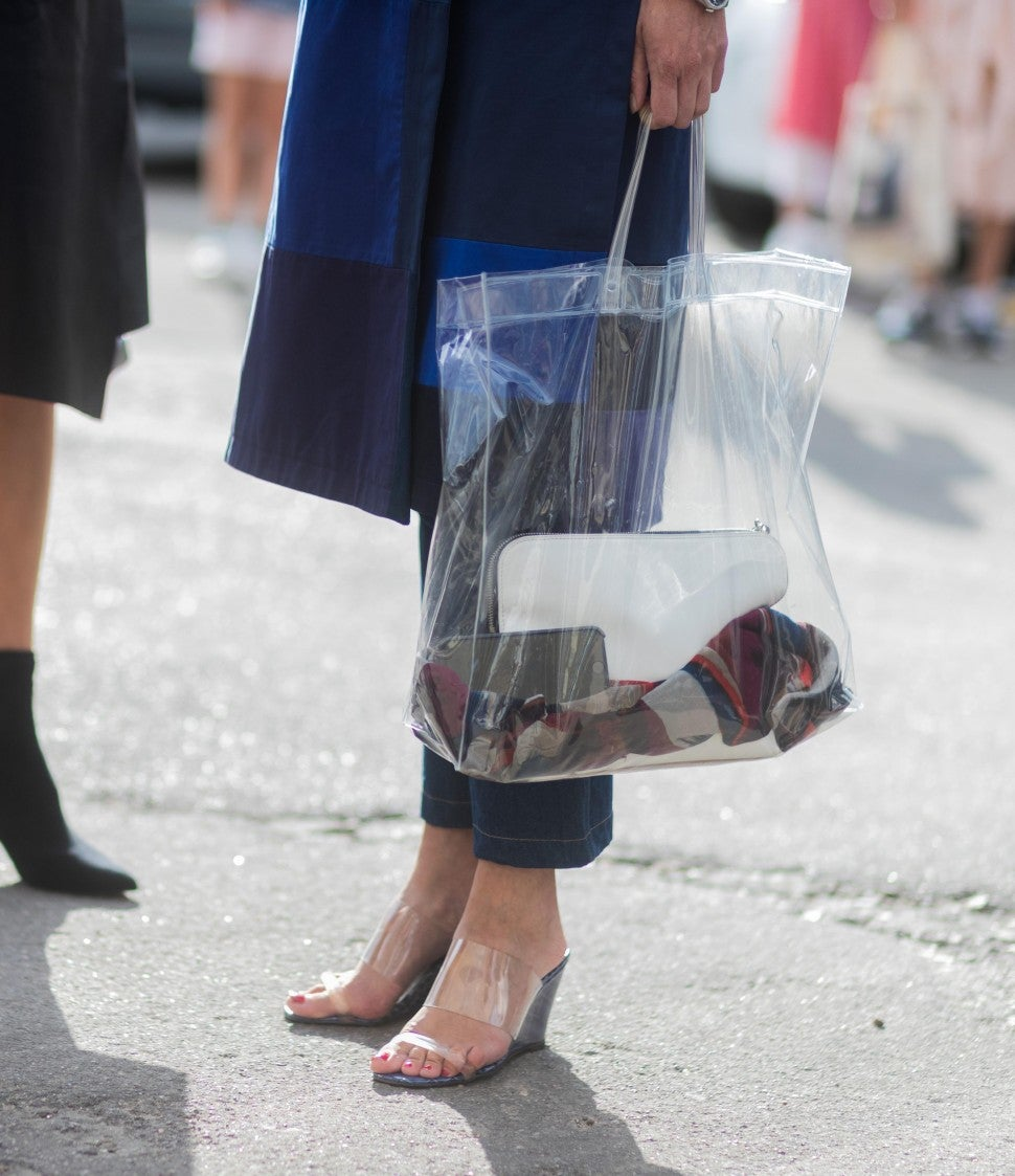 Lucite Shoes Street Style