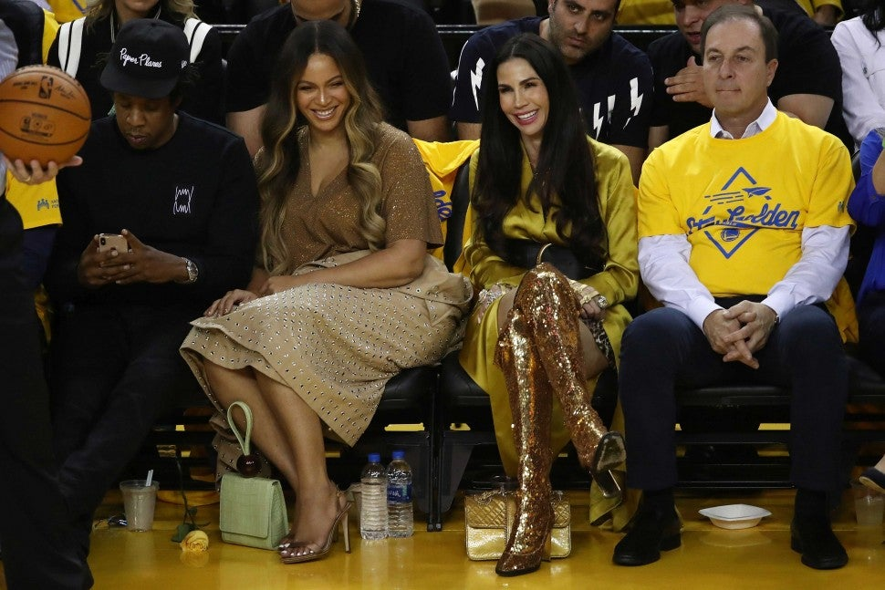 JAY-Z and Beyonce at Game 3 of the NBA Finals