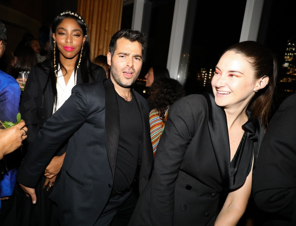 Jessica Williams, designer Jonathan Simkhai and Shailene Woodley
