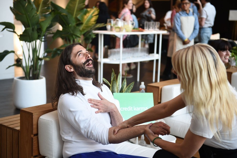 Jonathan Van Ness with credit karma