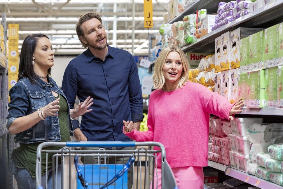 Kristen Bell and Dax Shepard at walmart in arkansas