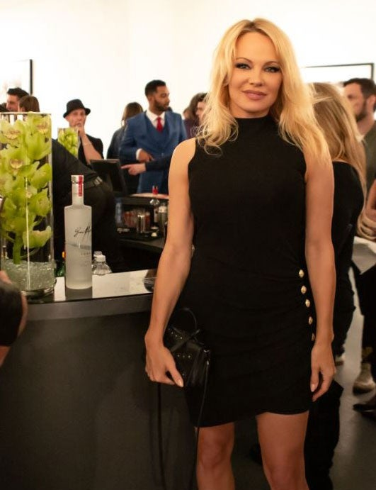 Pamela Anderson hosts charity event in weho
