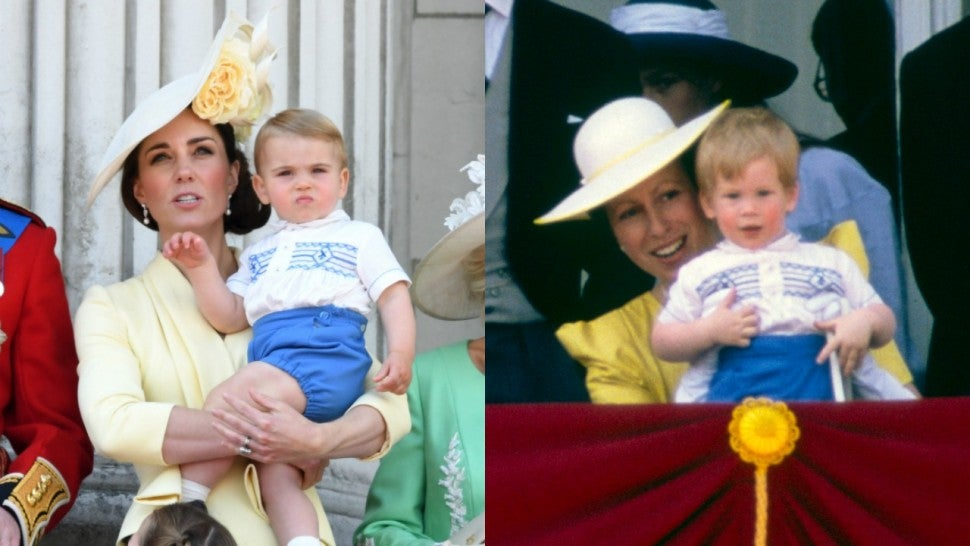 Prince Louis Prince Harry Trooping the Colour