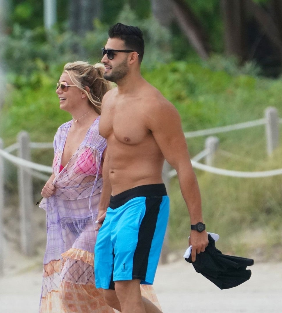Britney Spears and Sam Asghari in Miami