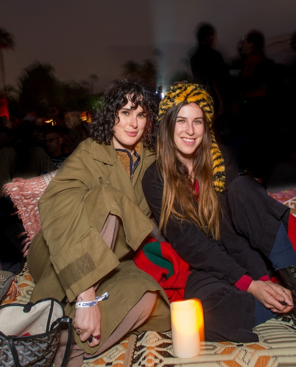 Rumer and Scout Willis at Cinespia