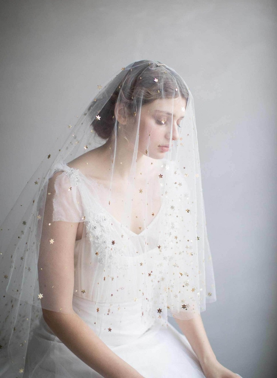 Twigs & Honey starry galaxy veil