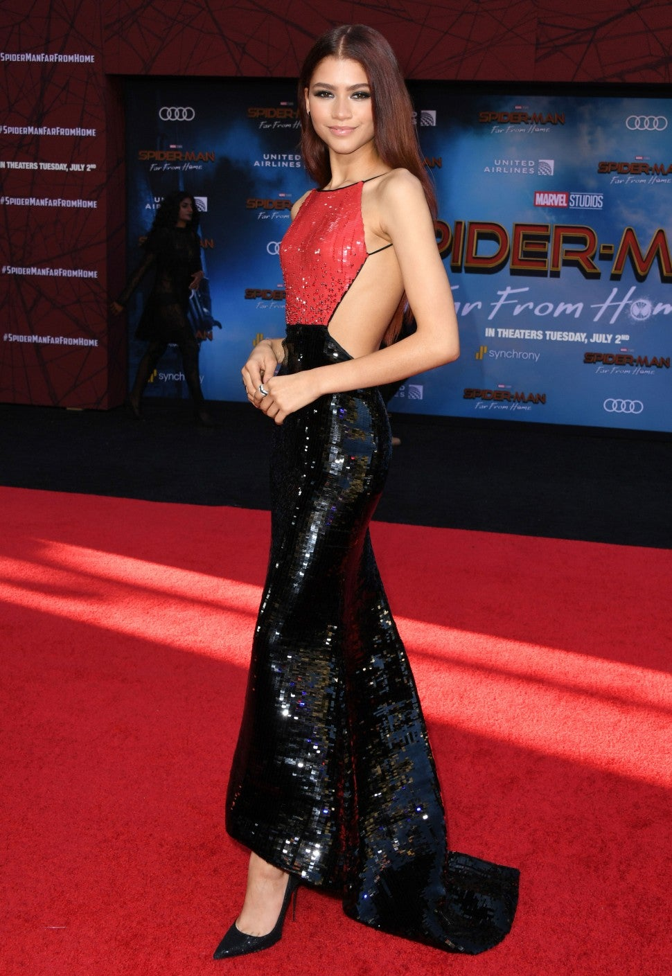 Zendaya at 'Spider-Man: Far From Home' premiere in Hollywood on June 26.