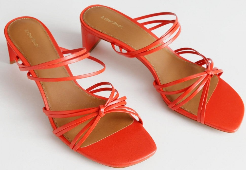 & Other Stories orange strappy knotted sandal