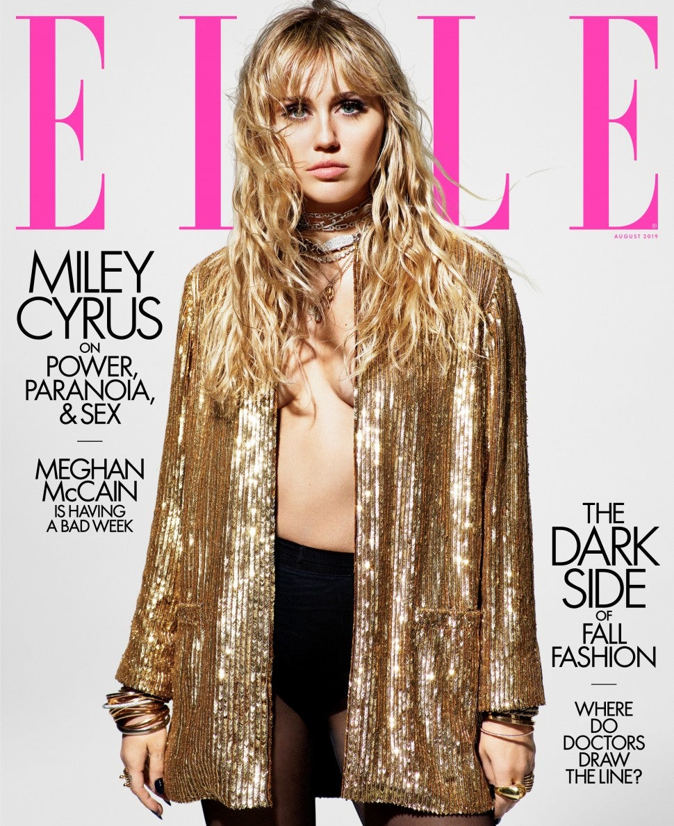 Miley Cyrus for Elle magazine