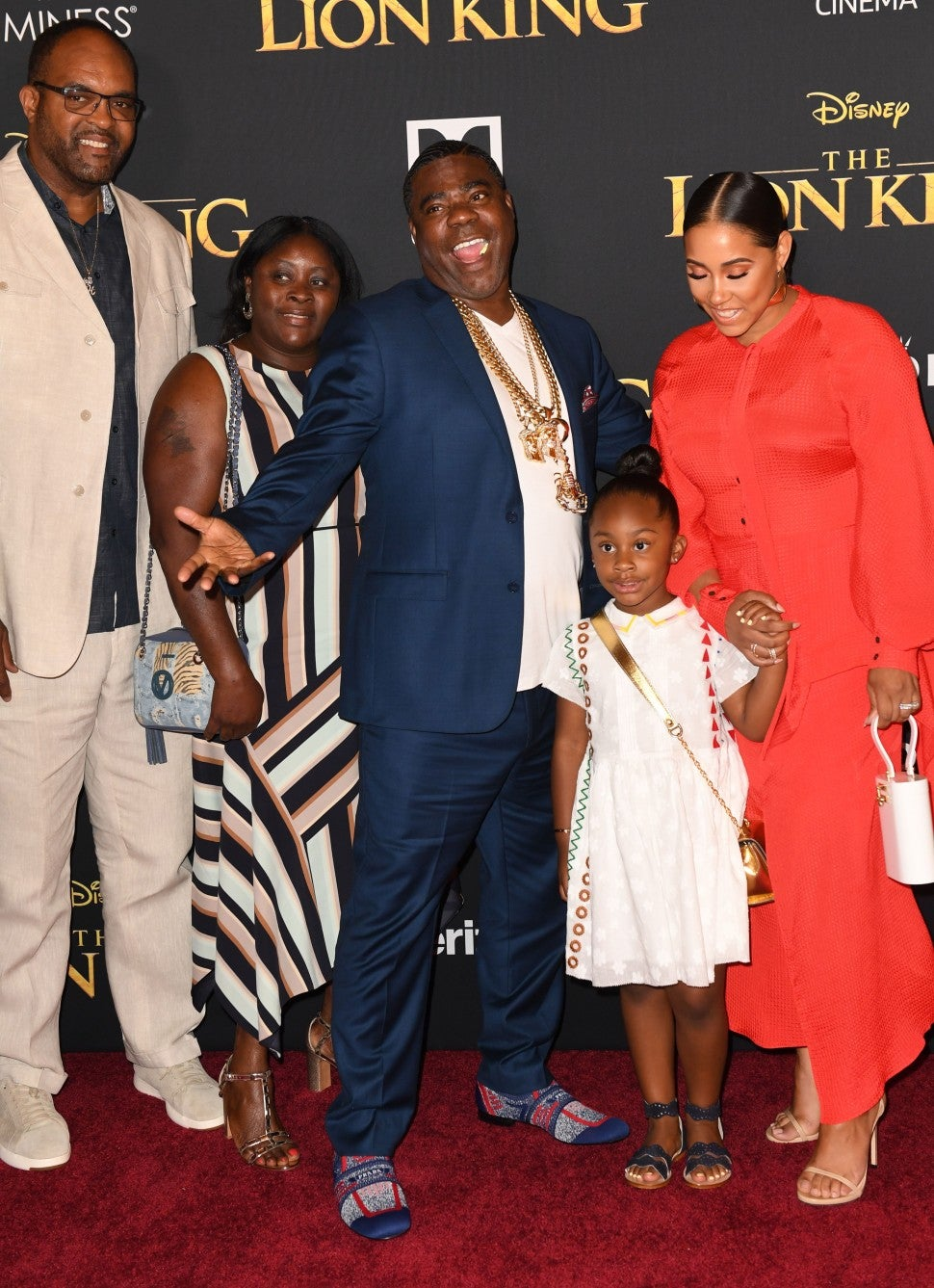 Tracy Morgan and Family Lion King Premiere