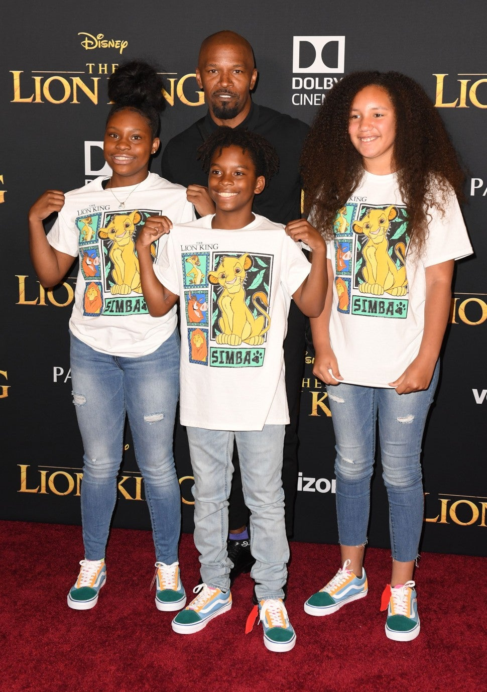 Jamie Foxx Lion King Premiere Daughter