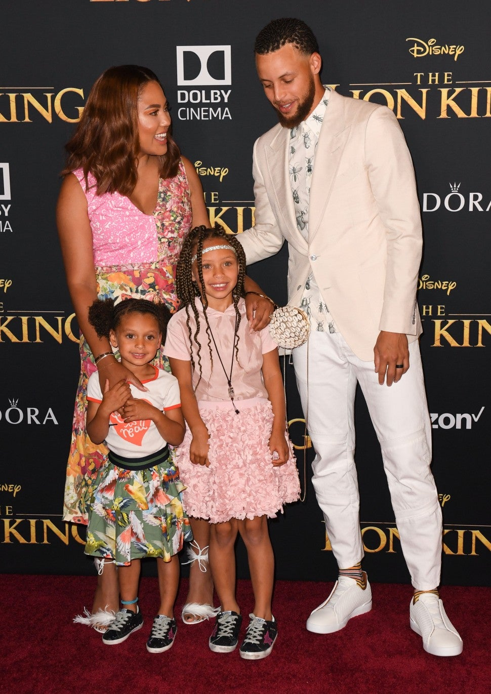 Steph Ayesha Curry Family Lion King Premiere
