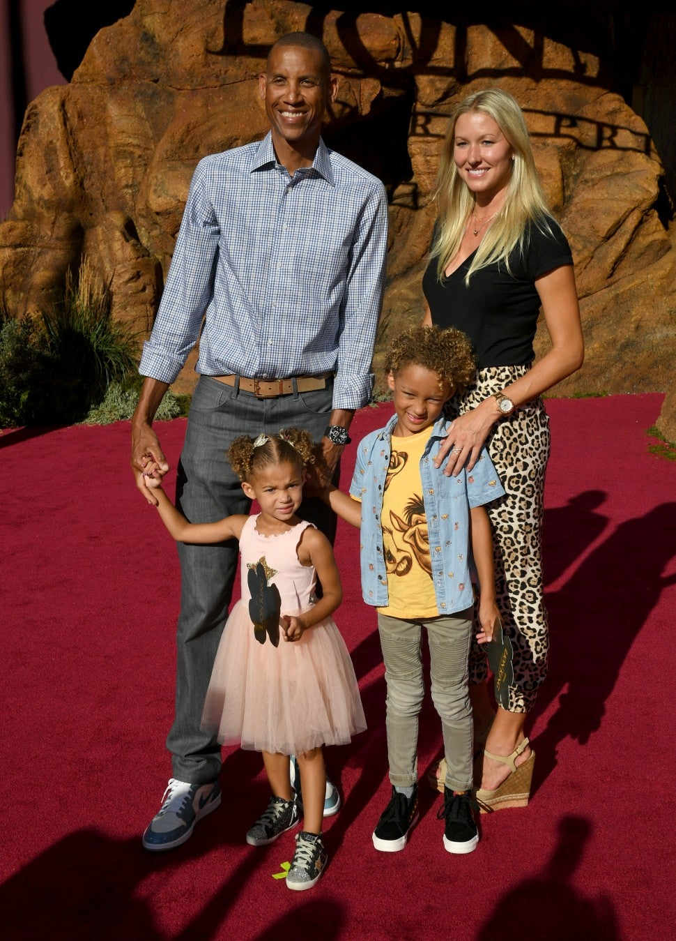 Reggie Miller Family Lion King Premiere