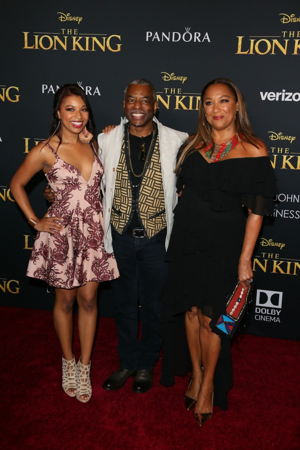 Levar Buron and Family Lion King Premiere