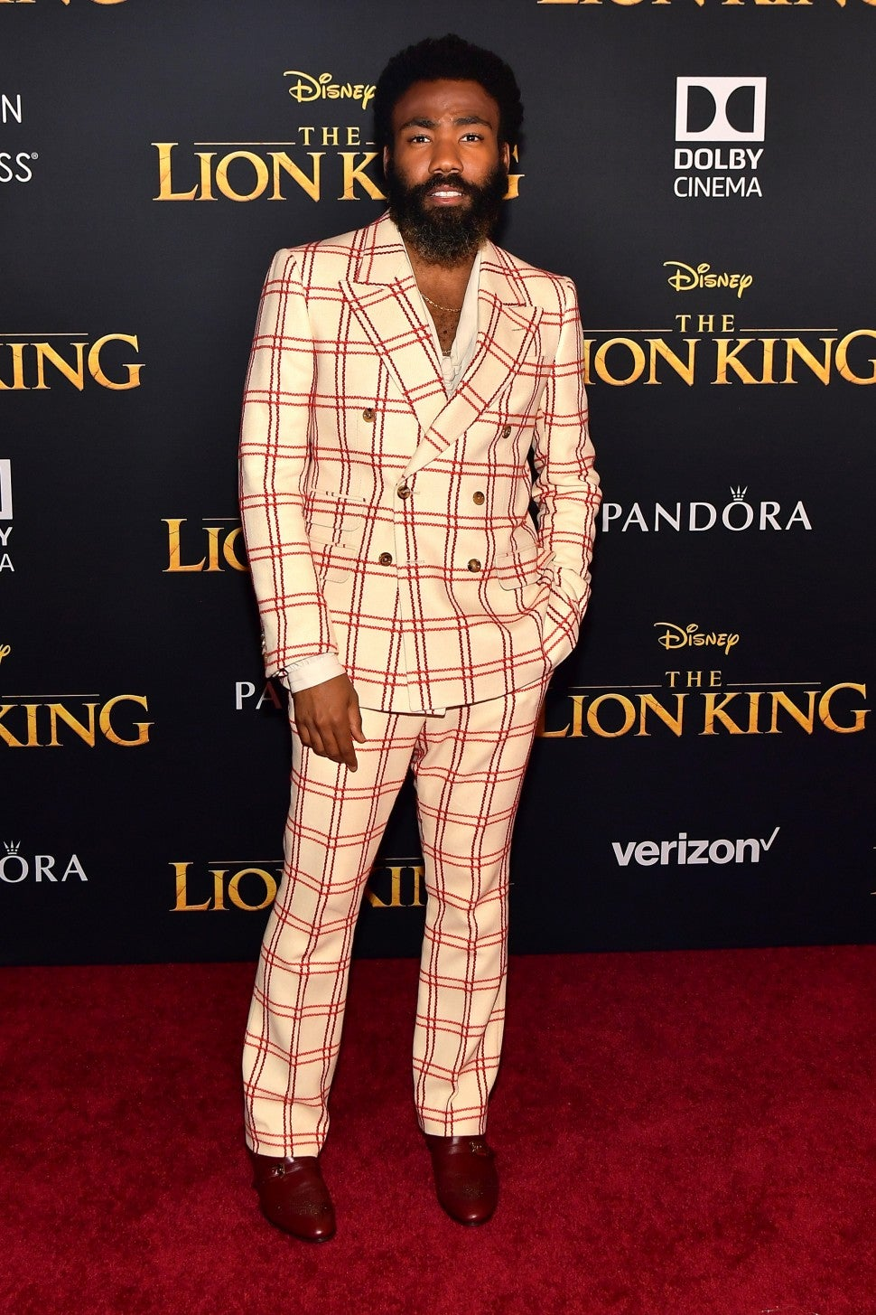 Donald Glover Lion King Premiere
