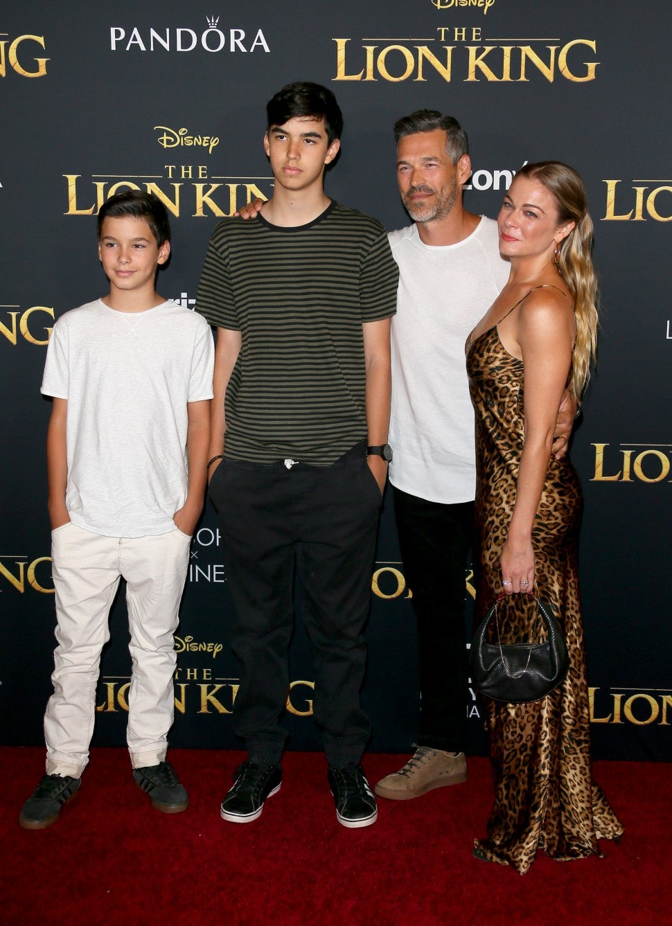 Eddie Cibrian and  Leann Rimes Lion King Premiere