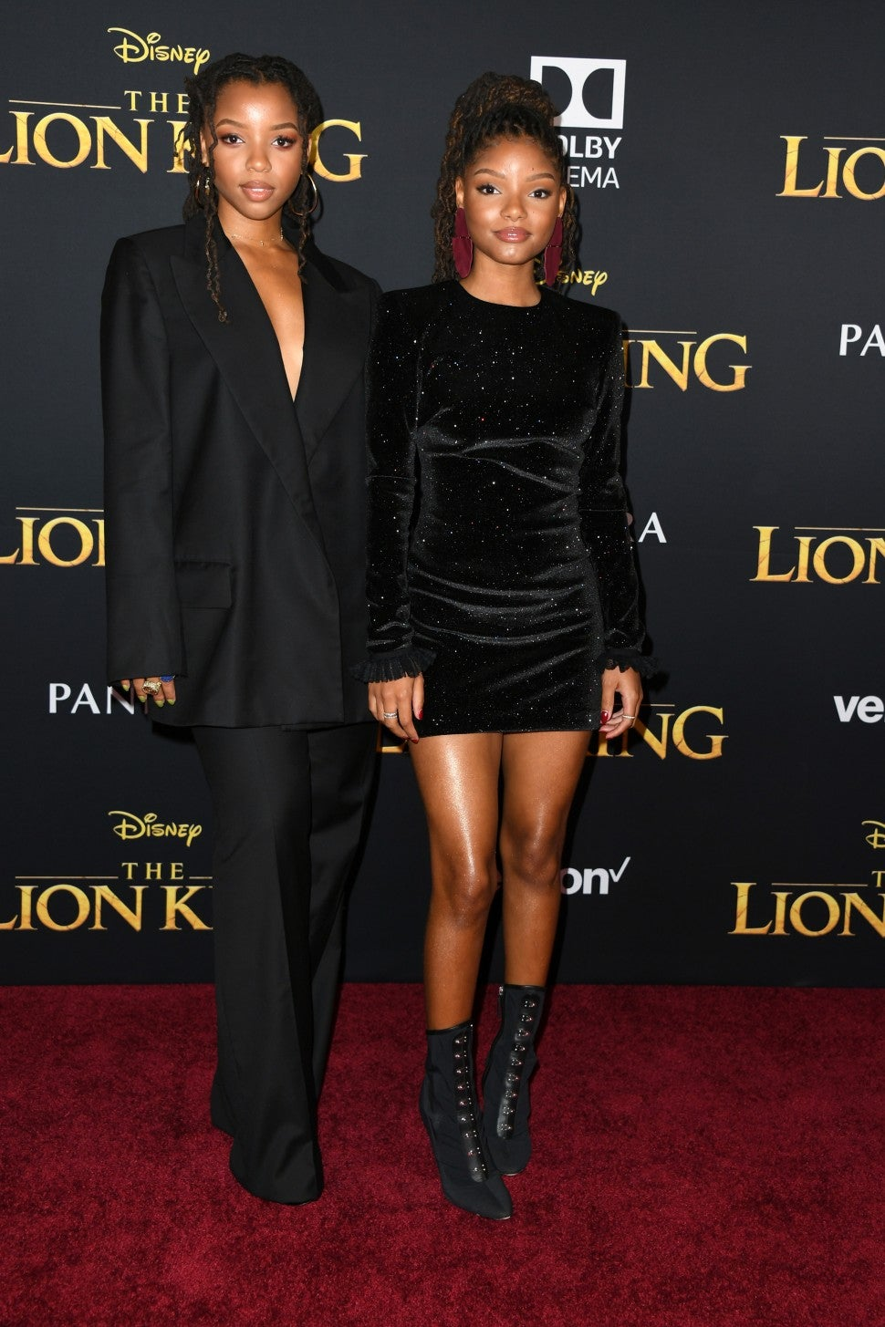 Chloe Bailey and Halle Bailey Lion King Premiere