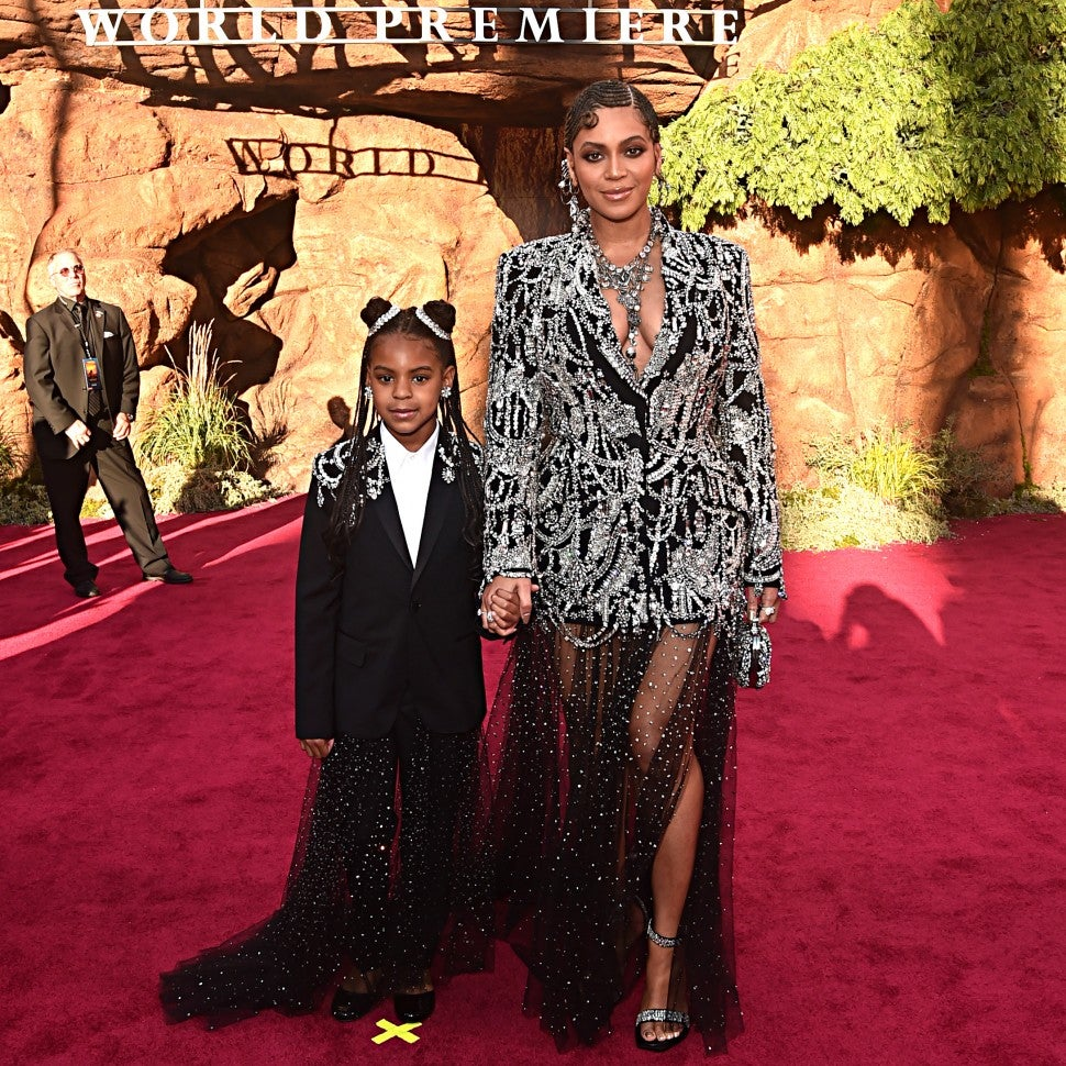 Blue Ivy Carter and Beyonce at Lion King wold premiere