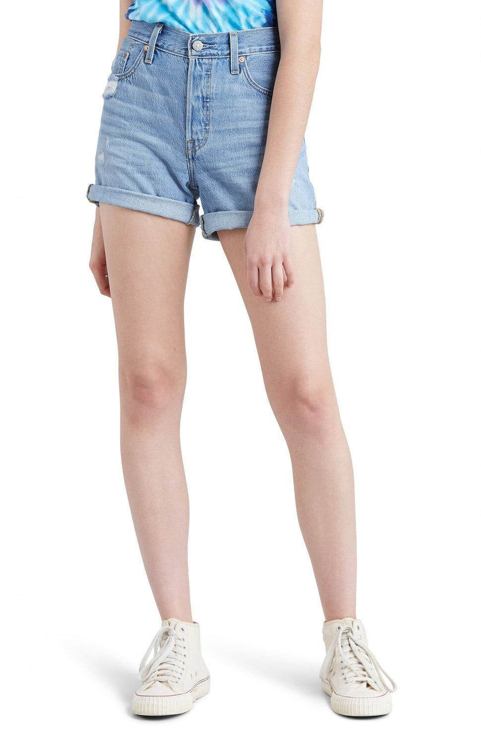 Levi's 501 long denim shorts